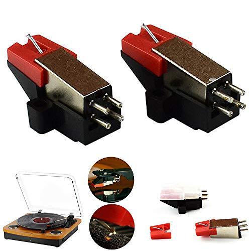 Funrose - Agujas de repuesto para tocadiscos y grabadores de fonógrafo para ionict04rs, TTUSB, TTUSB10, ITTCD1, Sony (2 unidades)