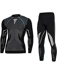 SPAIO® Moto thermohose, de Ski, Parure de Thermique, Chaud, Doux, Respirant  et Couture Plate… cef10c31a137