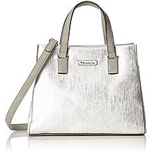 TAMARIS NADINE HANDTASCHE Marken Schultertasche Handbag Silber Metallic