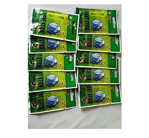 Taschen) 4,5 * 37mm Float Glow Stick Nachtfischen Grün Fluoreszierendes Licht ()