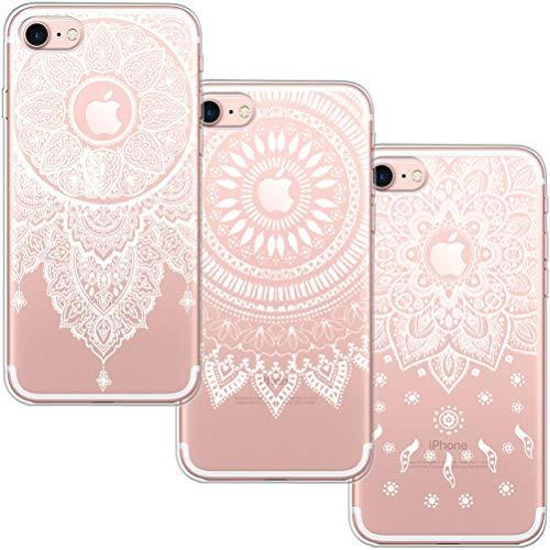 blossom01 [3 Stück] iPhone 6 Plus Hülle, iPhone 6S Plus Hülle, Cute Funny Kreative Cartoon Transparent Silikon Bumper für iPhone 6 Plus / 6S Plus - 3 * Mandala (Kreative Fällen Plus 6 Iphone)