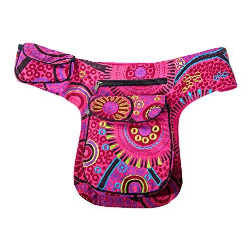 Goa spalla/marsupio cintura ventre cintura Hippie Psy Rosa (rosa)