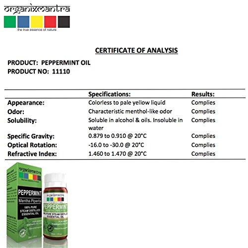 Peppermint Mentha Piperita Essential Oil – 100% Pure Aroma, Therapeutic Grade