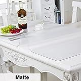 HM&DX Transparent Tischdecken Wasserdicht Ölfreie Abwaschbar 1mm dick Tischset abdeckung tuch Multi-size Tabelle beschützer Für küche esszimmer couchtische-Matt 70x130cm(28x51inch)