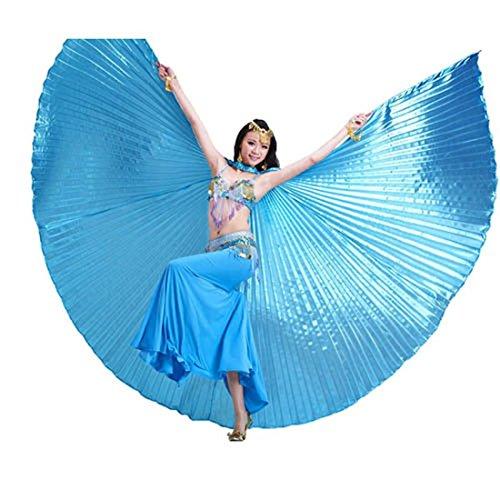 Holz Tanz Kostüm - Calcifer, Isis-Flügel für orientalischen Tanz, ägyptisches Tanzkostüm-Zubehör., blau