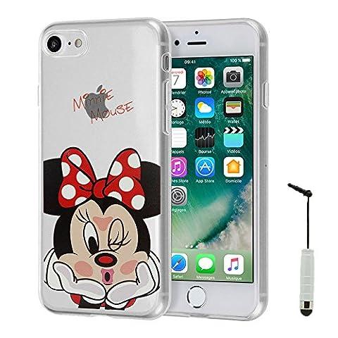 VComp-Shop® Transparente Silikon TPU Handy Schutzhülle mit Motiv Cartoon Disney für Apple iPhone 7 4.7