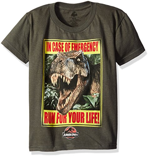 Boys Jurassic Park Run For Your Life T-Shirt Size 4