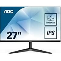 "AOC 27B1H Monitor LED da 27"", Pannello IPS, FHD, 1920 x 1080, 60 Hz, No VESA, VGA, HDMI, Senza Bordi, Nero"