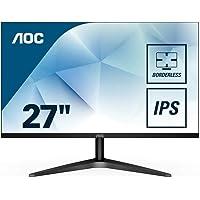 """AOC 27B1H Monitor LED da 27"""", Pannello IPS, FHD, 1920 x 1080, No VESA, VGA, HDMI, Senza Bordi, Nero"""
