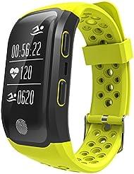 Smart Bluetooth Armband S908 wasserdicht Blood Pressure Heart Rate Tracker Aktivitäts-Armband Pedometer Sleep Monitor für IOS und Android