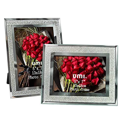 Umi. by amazon - cornice foto 13x18cm con vetro scintillante, 2 pezzi