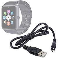 DURAGADGET Práctico Cable Micro USB De Sincronización De Datos Para Smartwatch Mobiper G08 - De Alta Calidad