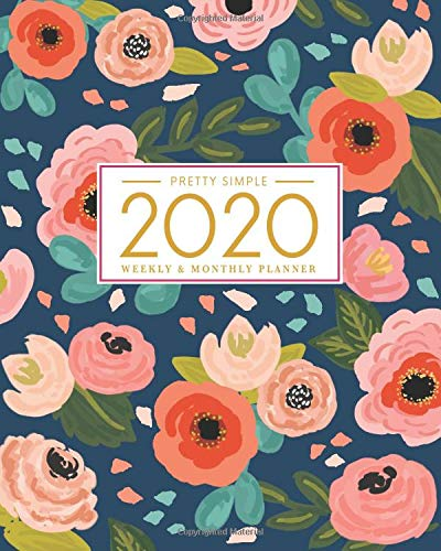 2020 Planner Weekly and Monthly: January to December: Navy Floral Cover