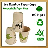 Bicchieri di carta usa e getta, 200 ml, bicchieri da cappuccino, tazza da tè, tazza per feste, coppe bio, distributori, bicchieri d'acqua 200ml Foglie