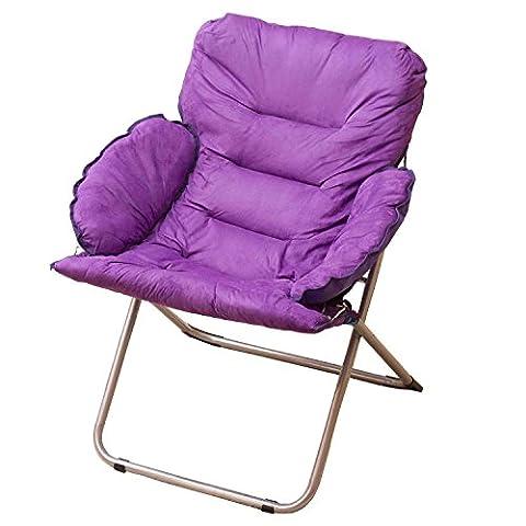 Violet Grande taille Chaise pliante Pause déjeuner Fold Fauteuil inclinable Nap Sofa