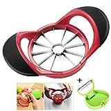 YuChiSX 12-Blades Apple Corer Slicer und Schäler für Obst, Küchen-Fruchtschneider Cutter Chopper für Apfel und Birne