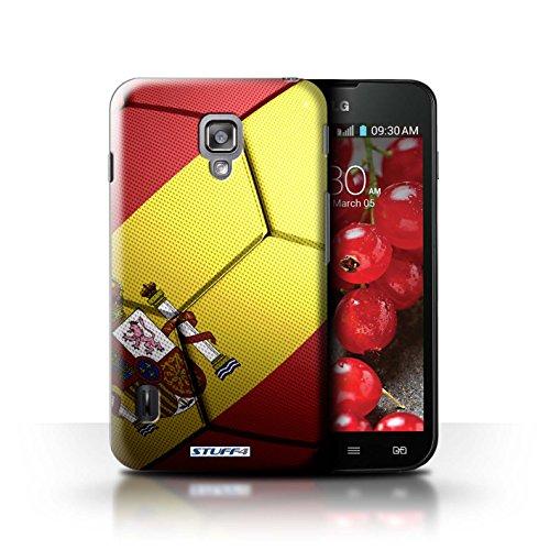 Kobalt® Imprimé Etui / Coque pour LG Optimus L7 II Dual / Portugal conception / Série Nations de Football Espagne/Espagnol