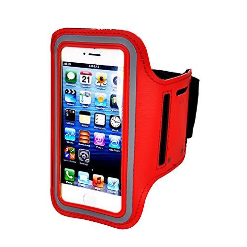 Brassard pour iPhone 7/6/6S Plus, LG G6G5, Galaxy S8S7S6Edge S8+, Note 5. etc. Casehq réglable réfléchissant Velcro Sport exercice Running Pouch, porte-clés, écran Protector-hiking, à vélo, marche (Noir)