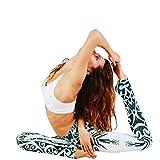 Damen Sport Leggings Yoga Leggings blickdichte Printed Laufhose für Laufen Yoga Workout und Fitness, SOMESUN Hosen (L, Grün)