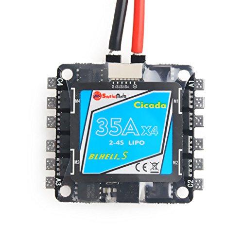 DroneAcc BLHeli-S Mini 4-in-1 ESC 35A 2-4S Sonnenaufgang elektronischer Geschwindigkeitsregler Eingang speziell für FPV Racing Multirotor