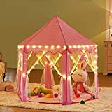 Kinder Indoor & Outdoor Princess Play House, LEKESI Spielzelt mit 100 LED Lichter USB für Festival Fairy Princess Castle Zelt