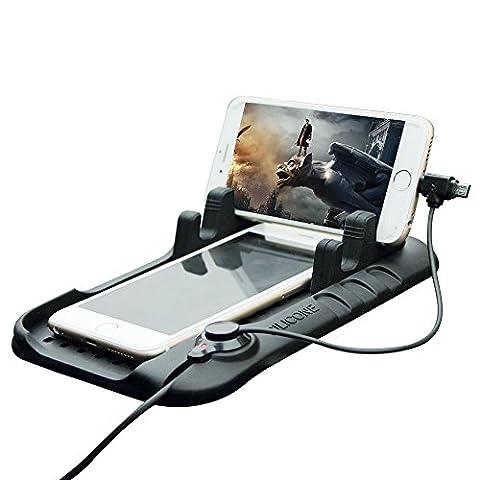 thanly KFZ Halterung Handy Silikon Pad Matte Halterung Armaturenbrett Telefon Ladestation Cradle Dock mit 2in 1Ladekabel für iPhone 66S Plus 55C 5S Samsung Galaxy S7S6S5S4S3HTC LG und GPS