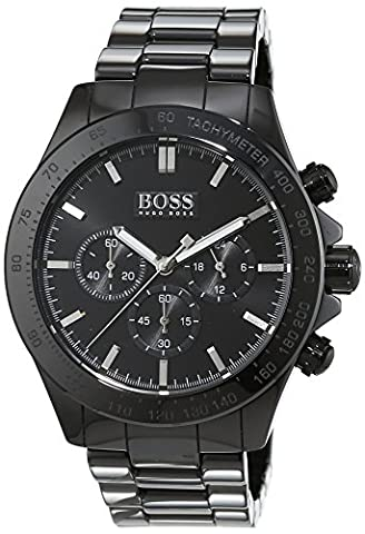 Hugo Boss Ikon Men's Quartz Black Chronograph Black Ceramic Bracelet 1513197