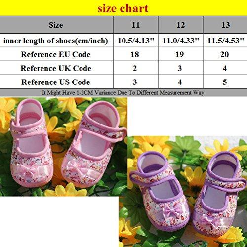 Zhhlinyuan Toddler Baby Girls Comfortable AntiSlip Soft bottom Princess Shoes Pink