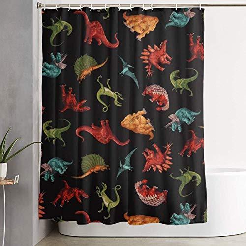 Setyserytu Duschvorhang,Luxurious Cute Dinosaur Design WaterRepellent Fabric Shower Curtain Bath Curtains Bathroom Decoration Home Decor 60x70 Inch Betsey Johnson Zebra