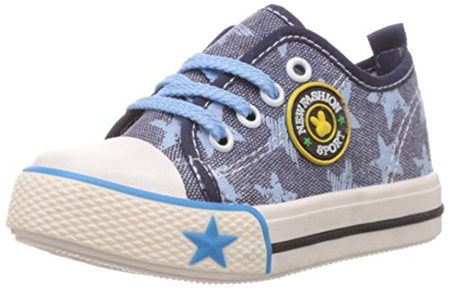 Dew Drops Unisex kurtis Dark Blue Canvas Sneakers - 6 kids UK (C-117)  available at amazon for Rs.179