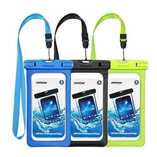 Mpow Wasserdicht Fall, neue Typ PVC wasserdichte Handy-Tasche, Universal Dry Bag für iPhone 7/7Plus, Galaxy/Google Pixel/LG/HTC (3er Pack)