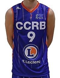 Kappa Baloncesto CCRB champán Chalons Reims réplica – Camiseta de Baloncesto para Hombre, Hombre,