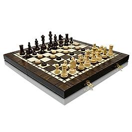 3in1 GRANDE 40cm / 16in 3 giochi in 1, Scacchi legno, Backgammon e Dama Dama/Gioco con Staunton figu