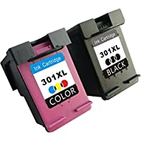 TooTwo 2 Paquete Cartuchos de Tinta Remanufacturados Reemplazar para HP 301XL(1 Negro, 1 Tricolor) Compatible con HP DeskJet 1050 1510 2050 2540 2543 2544 3050 OfficeJet 2620 All-in-One Impresora Envy 4500 5530 OfficeJet 4630 e-All-in-One Impresora