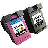 TooTwo 2 Pack 301XL Cartouches d'encre compatibles pour HP 301XL DeskJet 1000, 1050, 1050A, 1050S, 1055, 2000, 2050, 2050A, 2050S, 2050SE, 2054A, 2510, 2540, 3000, 3010, 3050, 3050A, 3050S, 3050SE, 3050VE, 3052A, 3054A, 3055A