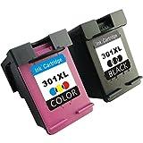 TooTwo 2 Paquete Cartuchos de Tinta Remanufacturados Reemplazar para HP 301XL(1 Negro, 1 Tricolor)...