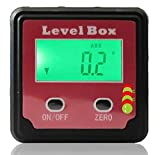 Magnétique Niveau à bulle numérique mesureur d'angles boîte. Rapporteur métrique. - housse de transport souple offerte
