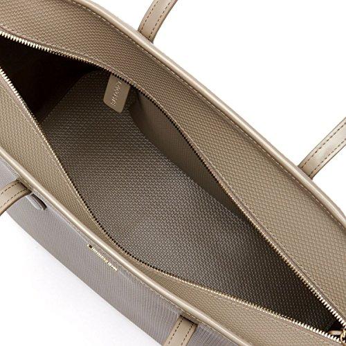 Lacoste–Einkaufstasche Zip Chantaco Leder (nf1219ce) Größe 33cm Brown