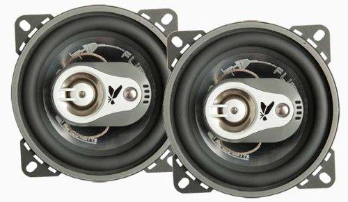 FLI Audio Integrator 4 inch 100mm 3-Way Triaxial 150 Watts Car Door Coaxial Speakers Set