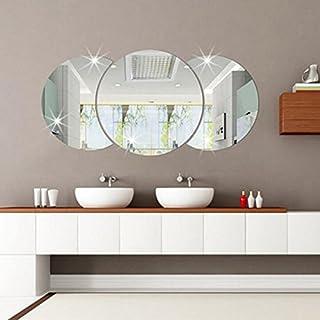 Kicode DIY 3D Spiegel-Aufkleber Runden Aufkleber-Kunst-Wand Wand-Aufkleber-Ausgang Wohnzimmer Moderne Dekor-entfernbare