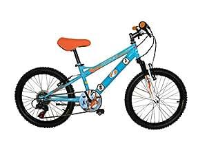 """Disney Planes Dusty Vélo Enfant Orange/Bleu 10"""" avec Canne"""