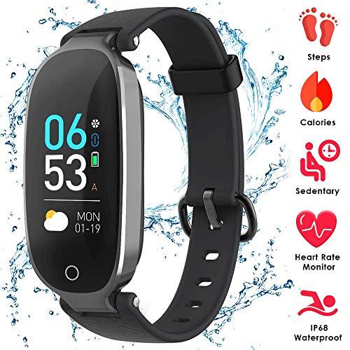 AGPTEK Fitness Armband mit Pulsmesser, Fitness Tracker Uhr Wasserdicht IP68 Blutdruckmesser Schrittzähler Uhr Stoppuhr Sport GPS Aktivitätstracker Schlafüberwachung Anruf SMS für Kinder Damen Männer