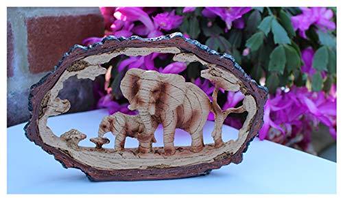 Adorno decorativo con diseño de elefante con pantorrilla