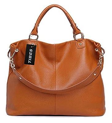 Tibes Genuine Leather Handbag Shoulder Bag Tote Ladies Bag