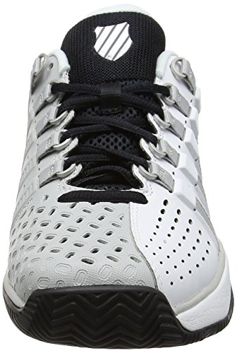 K-Swiss Performance Hypermatch Hb, Chaussures de Tennis Homme Blanc (White/gull Gray/black)