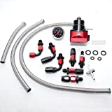 PAG Motorsport Tuning Benzindruckregler Set DASH6 mit Manometer einstellbar AN6