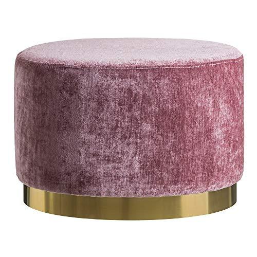 Puff tapizado de Terciopelo Rosa Moderno para salón France - LOLAhome