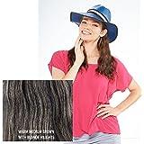 "Milano Collection Hat Wig 100% Premium Human Hair 21"" Long Wavy Style Medium Brown #8/16"