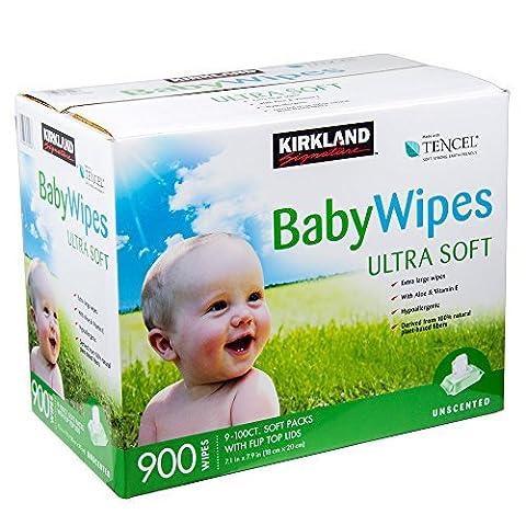 NEW Kirkland Signature Lingettes non parfumées bébé Ultra Doux 900lingettes (nouvelle formule améliorée de 2015)