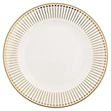 GreenGate Gate Noire - Speiseteller - Essteller - Dawn Gold - Bone China - Ø 25,6cm